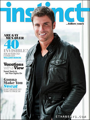 "... this month Instinct poses the question, ""Are gay men over 40 invisible?, ..."